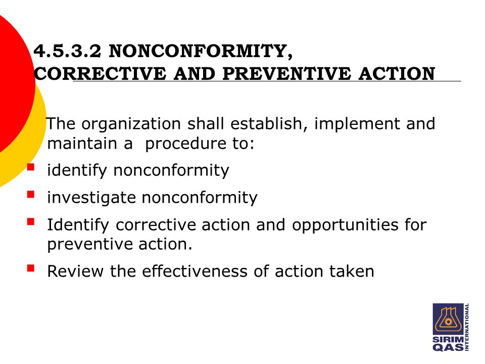 nonconformity corrective action and preventive action Ksph&idcl ims procedure imsp 25 environmental nonconformity, corrective & preventive action revision: 1 revision date: 01072015 page 3 of 8.