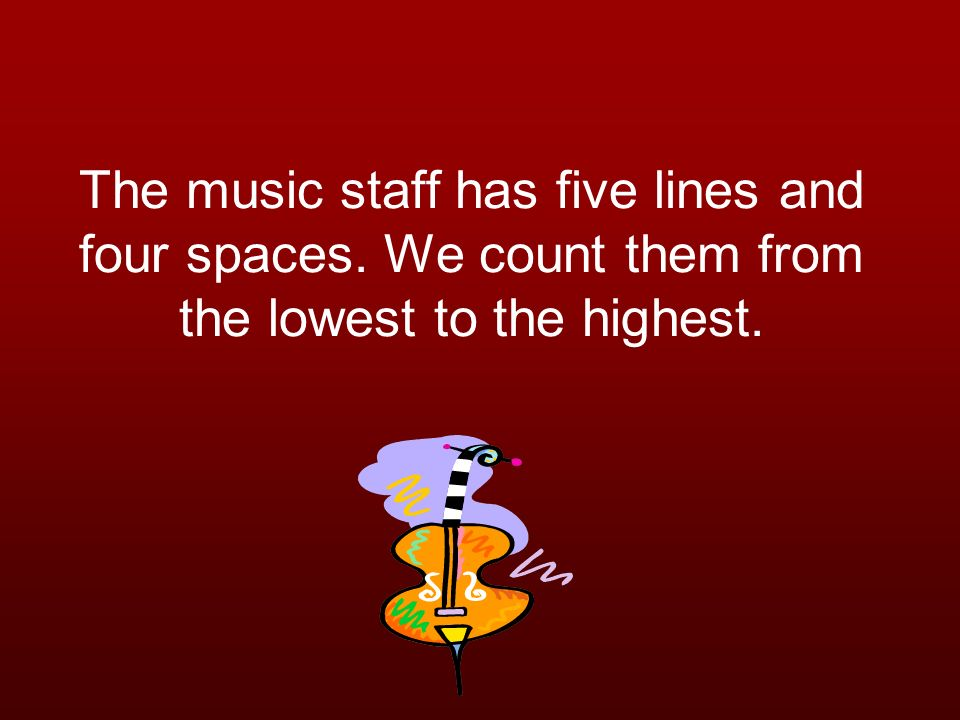 The music staff has five lines and four spaces