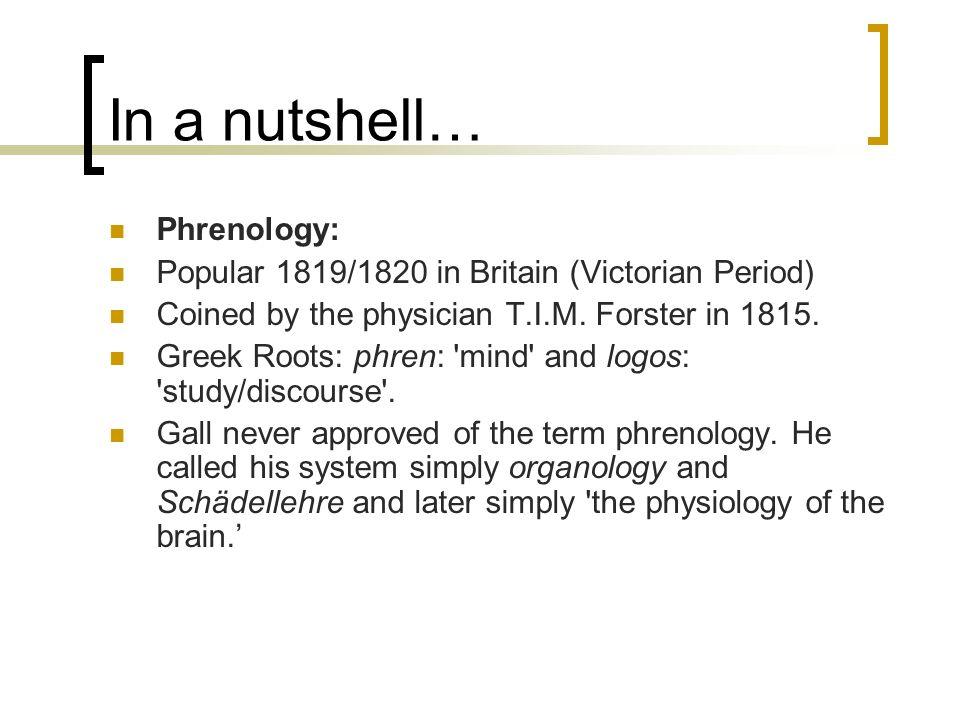 In a nutshell… Phrenology: