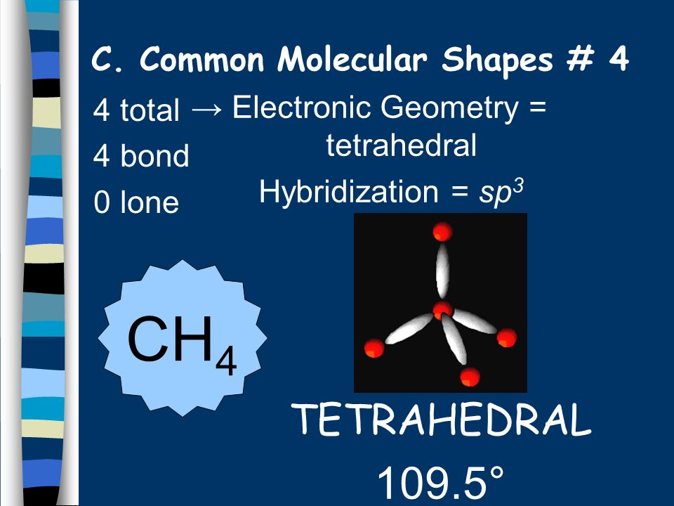 C. Common Molecular Shapes # 4