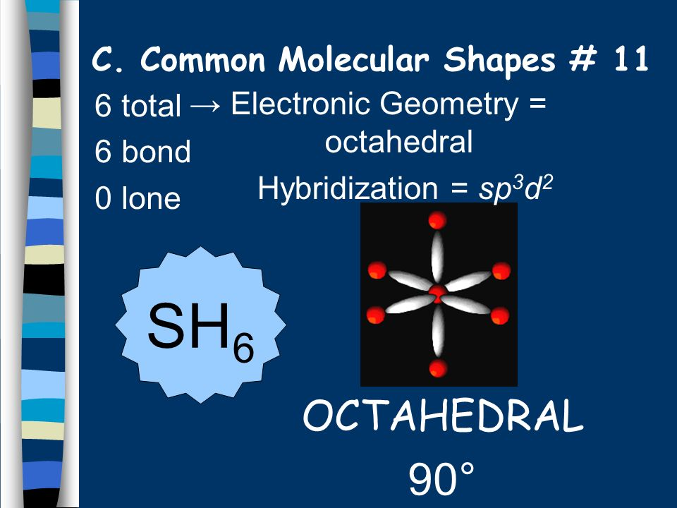 C. Common Molecular Shapes # 11