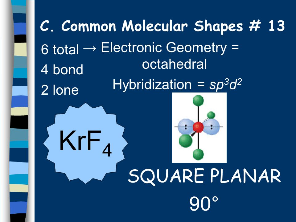 C. Common Molecular Shapes # 13