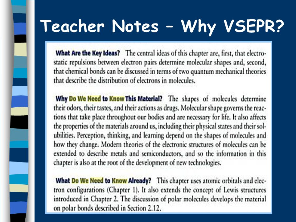 Teacher Notes – Why VSEPR