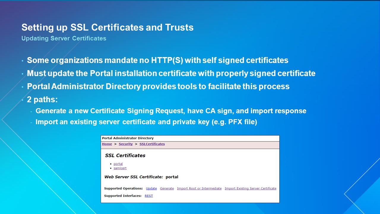 Portal for arcgis administration ppt video online download setting up ssl certificates and trusts xflitez Choice Image