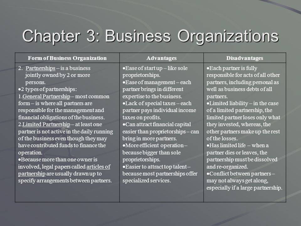 Economics Chapter 3: Business Organizations - ppt video online ...