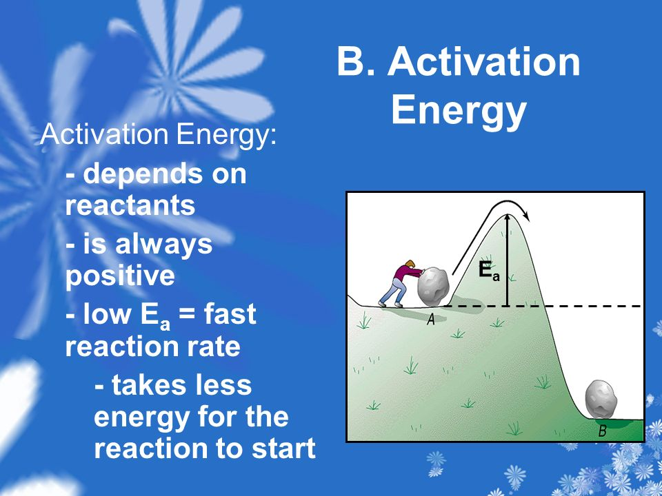 B. Activation Energy Activation Energy: - depends on reactants