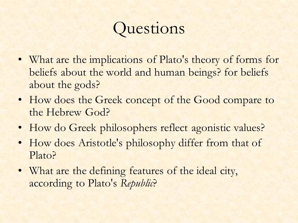 an essay on platos theory of forms Plato essay on his theory of forms a one of the truly great philosophers of all time was plato, a native athenian born in 427 bc who died in 347 bc as.