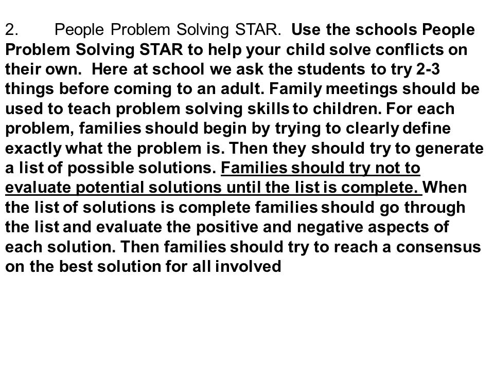 2. People Problem Solving STAR