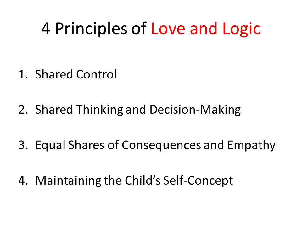4 Principles of Love and Logic