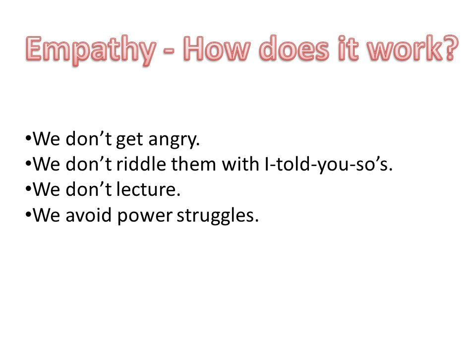 Empathy - How does it work