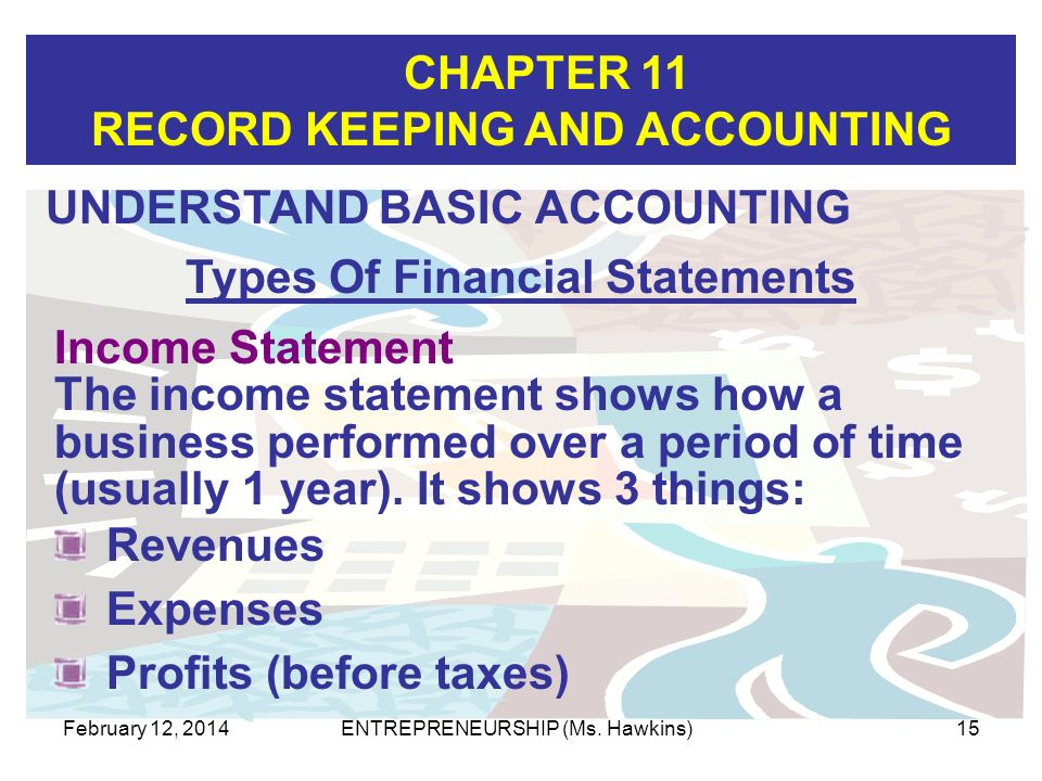 Types Of Financial Statements