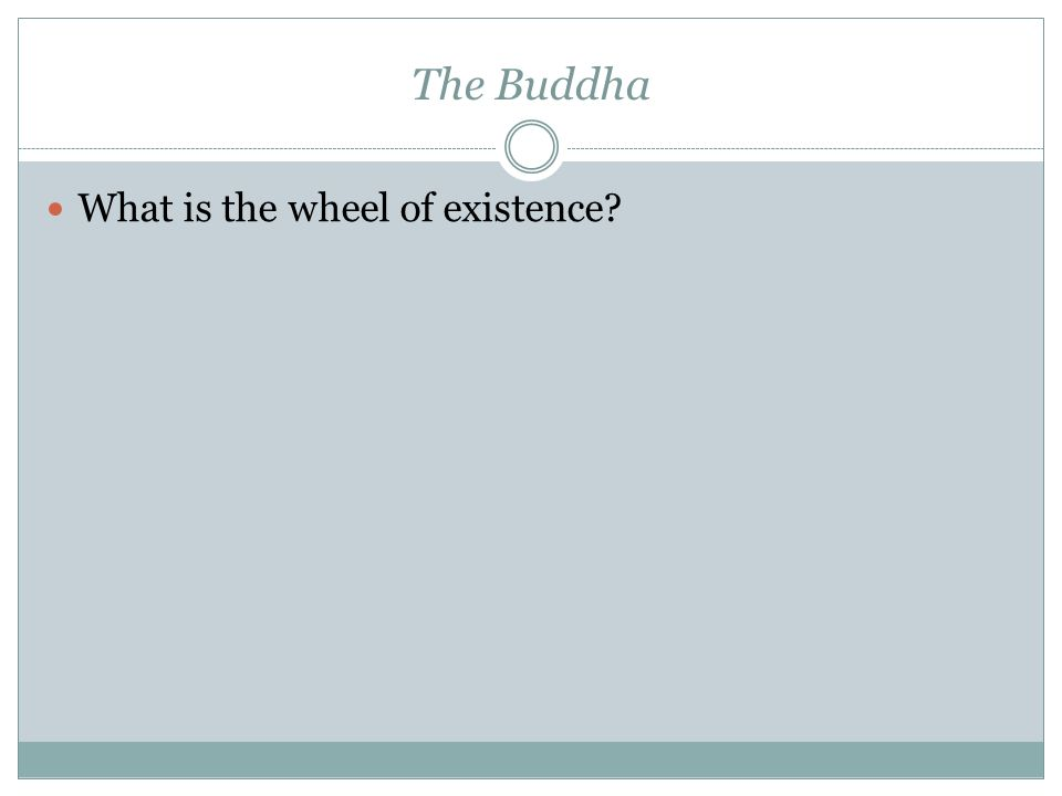 The Buddha What is the wheel of existence