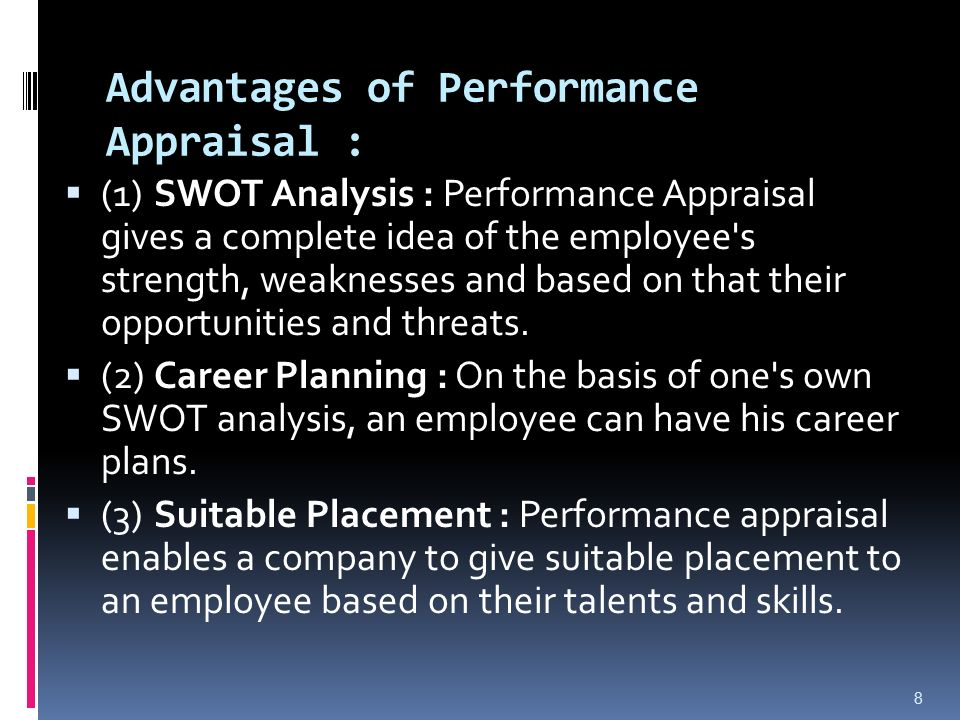 the performance appraisal advantages and disadvantages Performance appraisal (pa) system to the traditional paper-and-pencil (p&p)   more familiar with the technology, as well as its advantages and disadvantages.