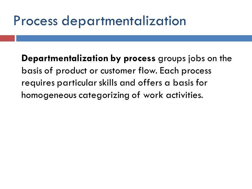 Process departmentalization