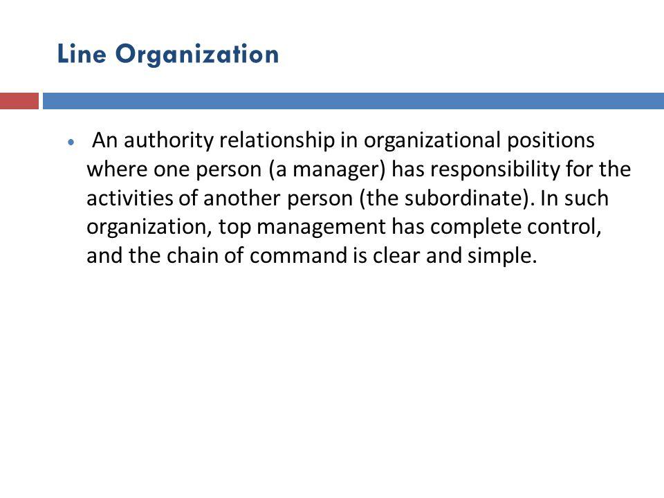 Line Organization