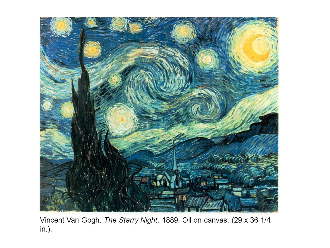Vincent Van Gogh. The Starry Night. 1889. Oil on canvas