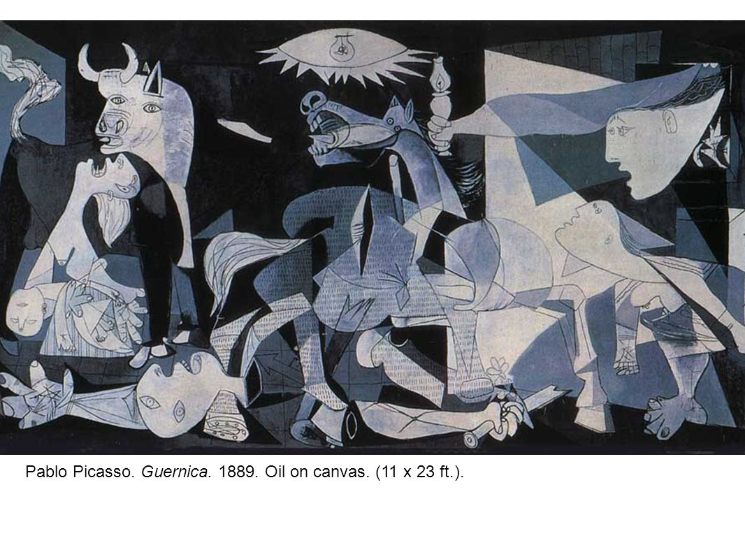 Pablo Picasso. Guernica. 1889. Oil on canvas. (11 x 23 ft.).