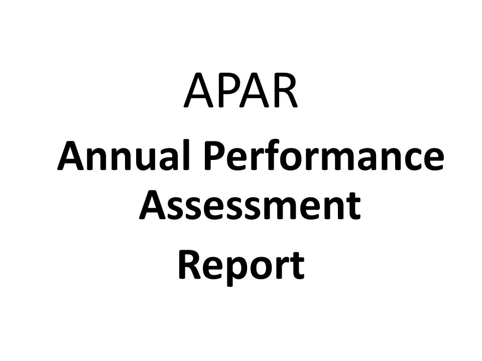 Annual Performance Assessment  Ppt Video Online Download