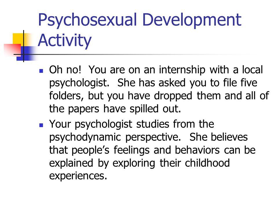 Psychosexual Development Activity