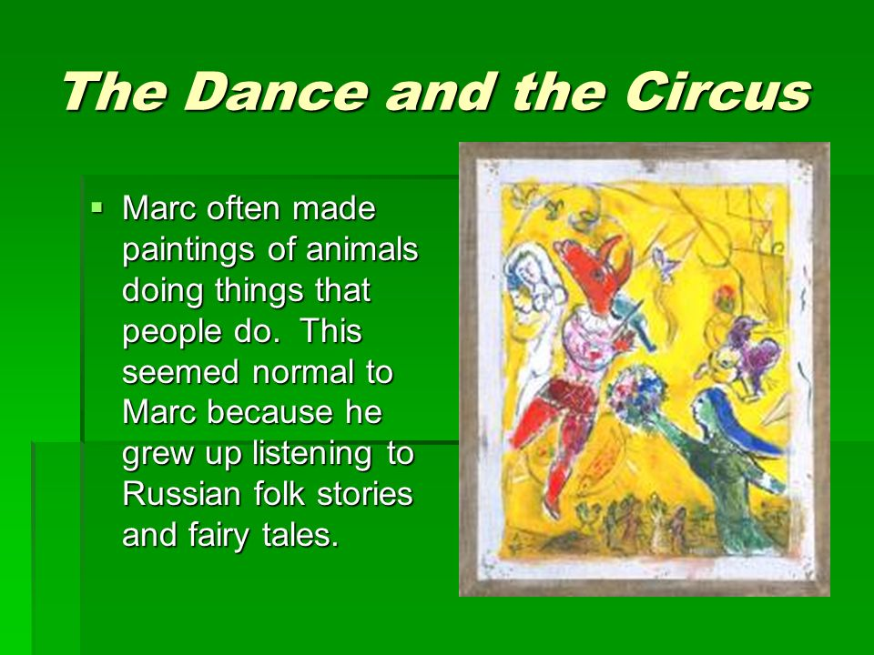 The Dance and the Circus
