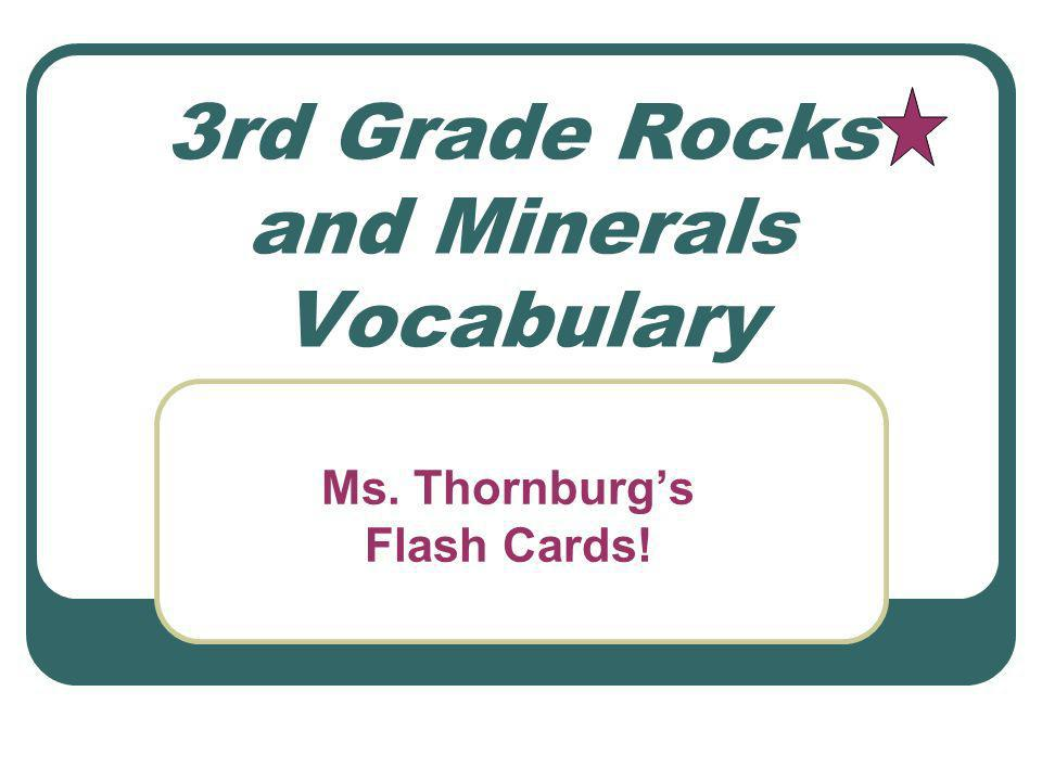 3rd Grade Rocks and Minerals Vocabulary