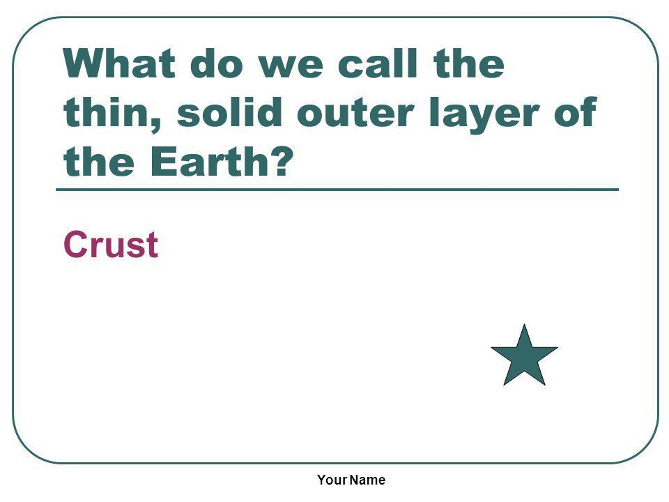 What do we call the thin, solid outer layer of the Earth