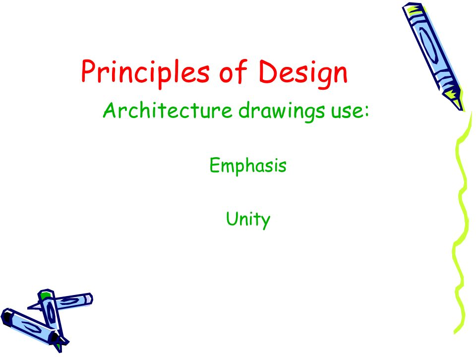 Architecture drawings use: