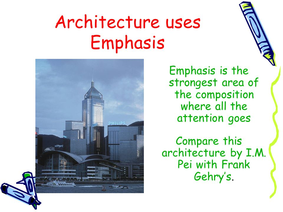 Architecture uses Emphasis