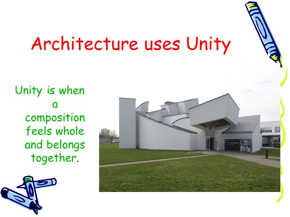 Architecture uses Unity