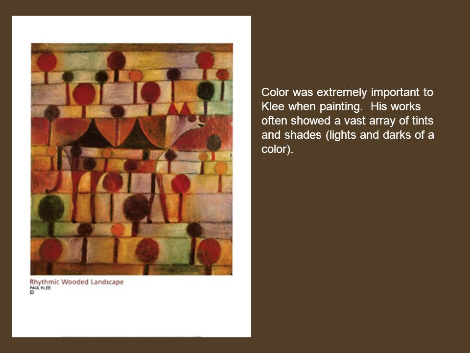 Color was extremely important to Klee when painting