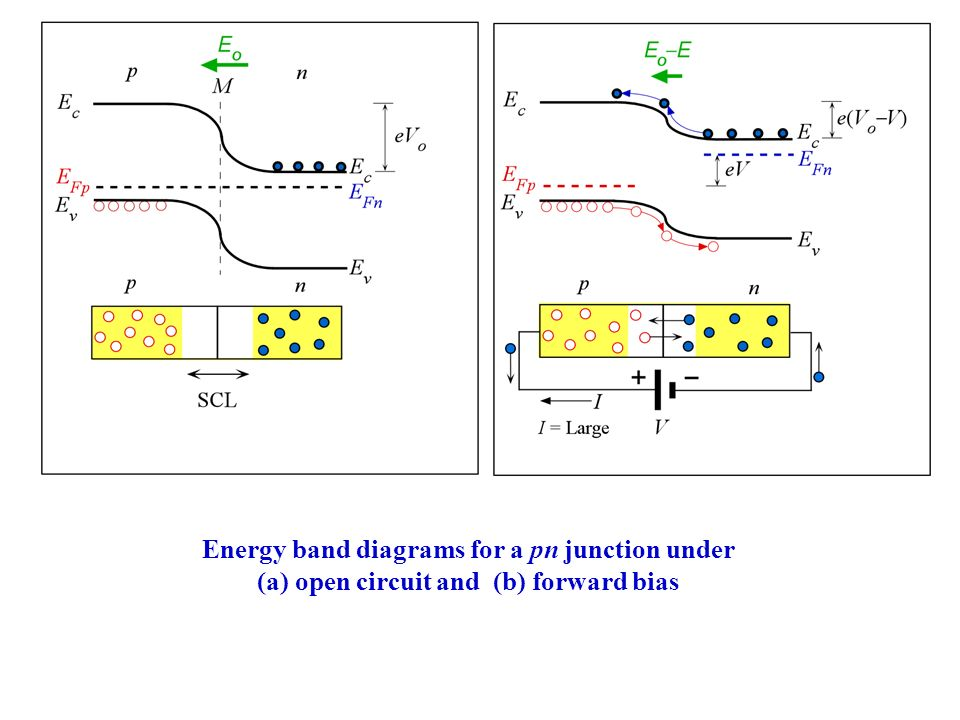 Forward    Bias Law of the Junction  Minority Carrier Concentrations and Voltage pn 0  is the hole