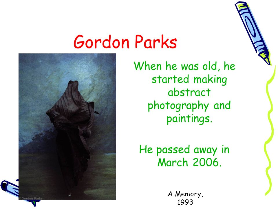 When he was old, he started making abstract photography and paintings.