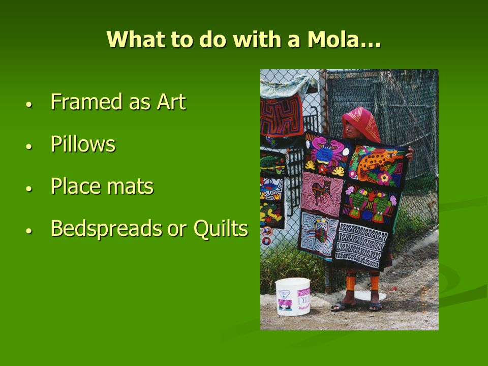 What to do with a Mola… Framed as Art Pillows Place mats