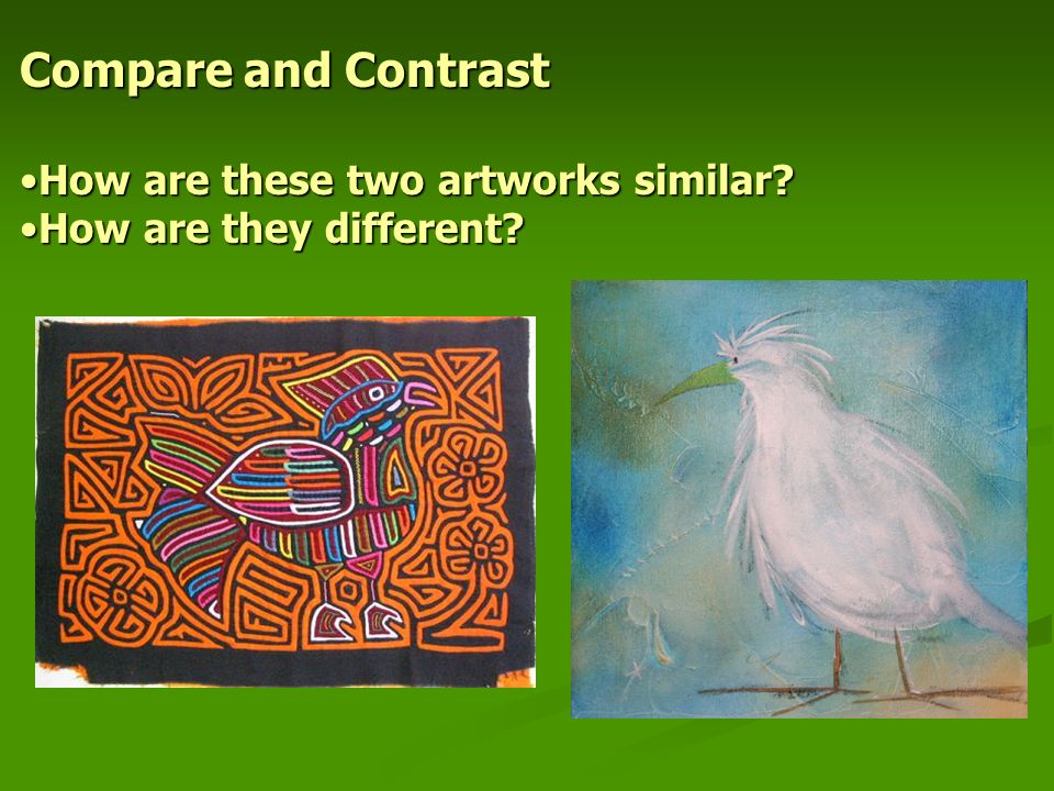 Write essay comparing two artworks