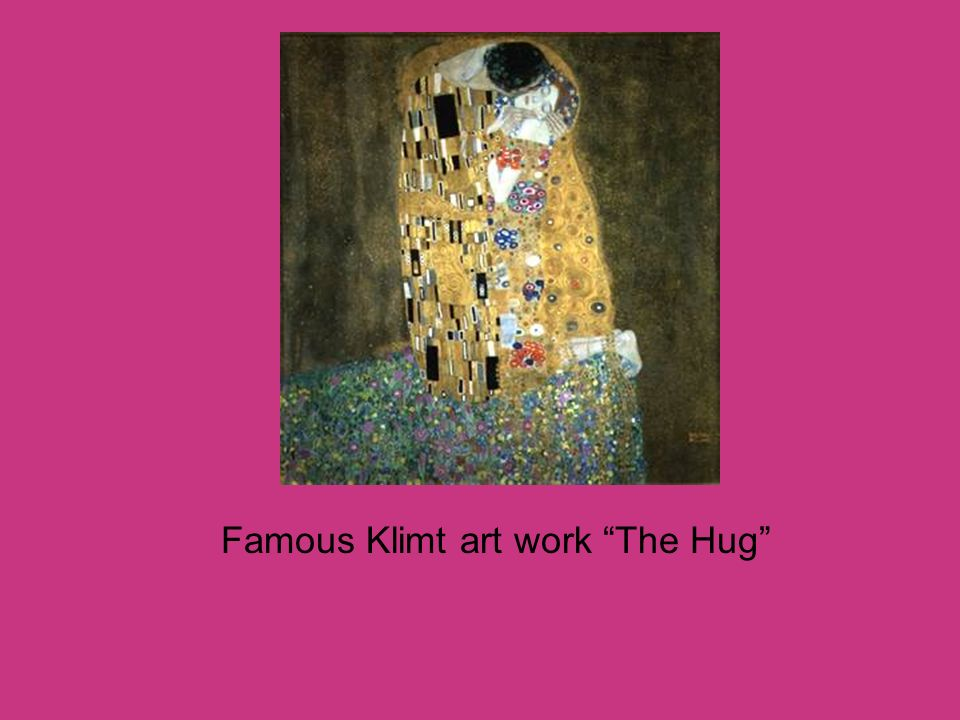 Famous Klimt art work The Hug
