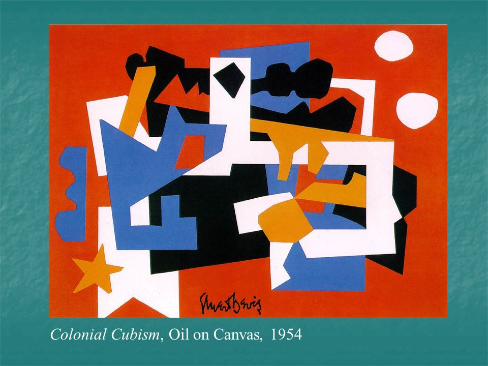 Colonial Cubism, Oil on Canvas, 1954