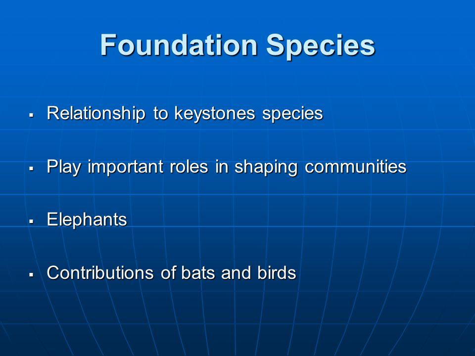 Foundation Species Relationship to keystones species