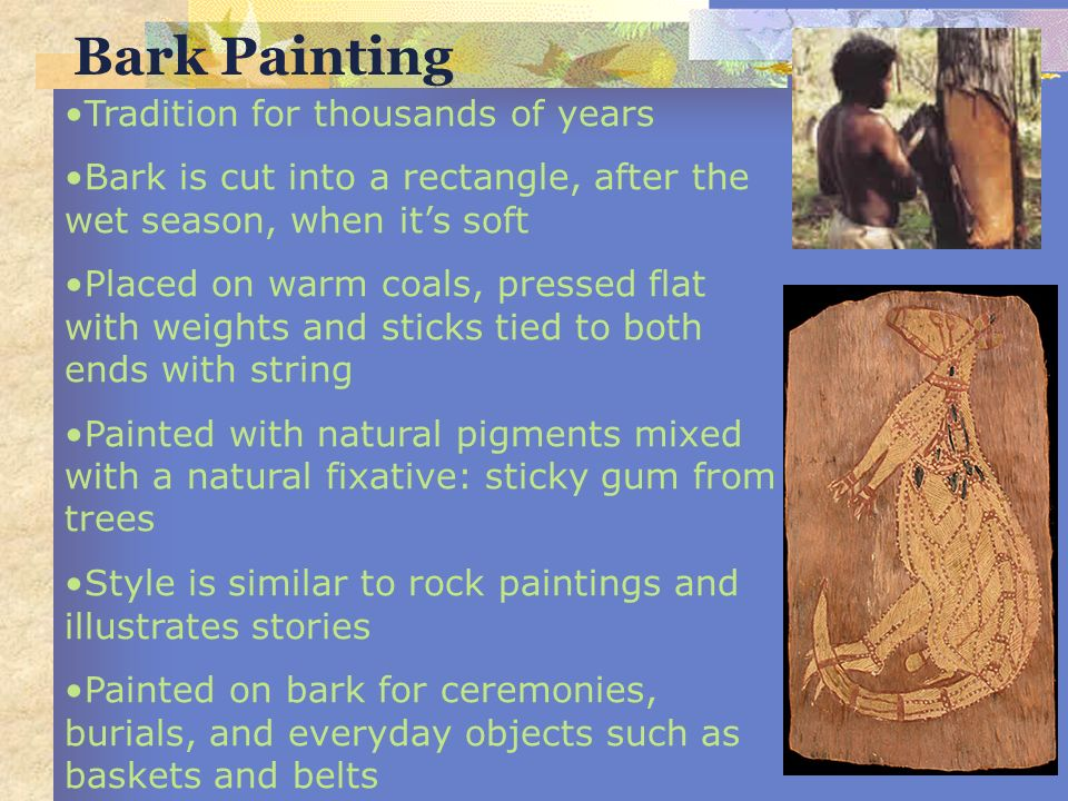 Bark Painting Tradition for thousands of years
