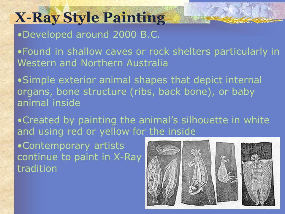 X-Ray Style Painting Developed around 2000 B.C.