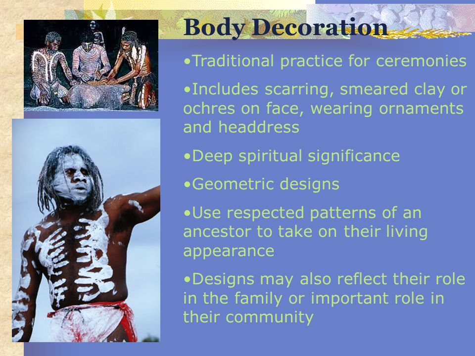 Body Decoration Traditional practice for ceremonies