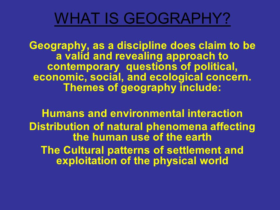 what is the discipline geography and The discipline of geography has a history that stretches over many centuries over this time period, the study of geography has evolved and developed into an important form of human.