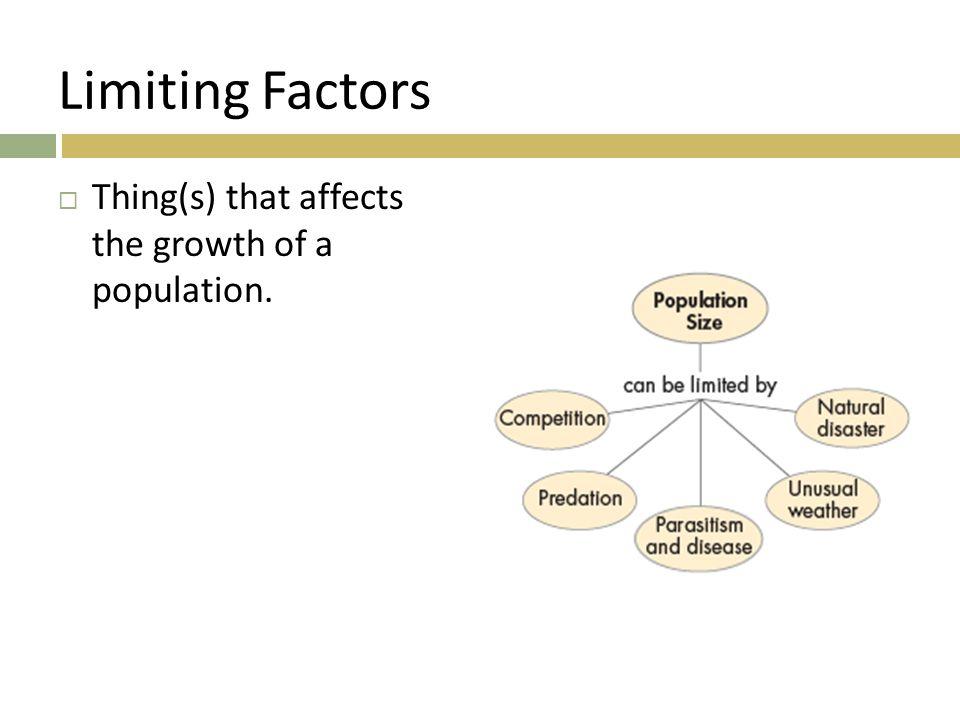 1 Review List three density dependent limiting factors 2 ...
