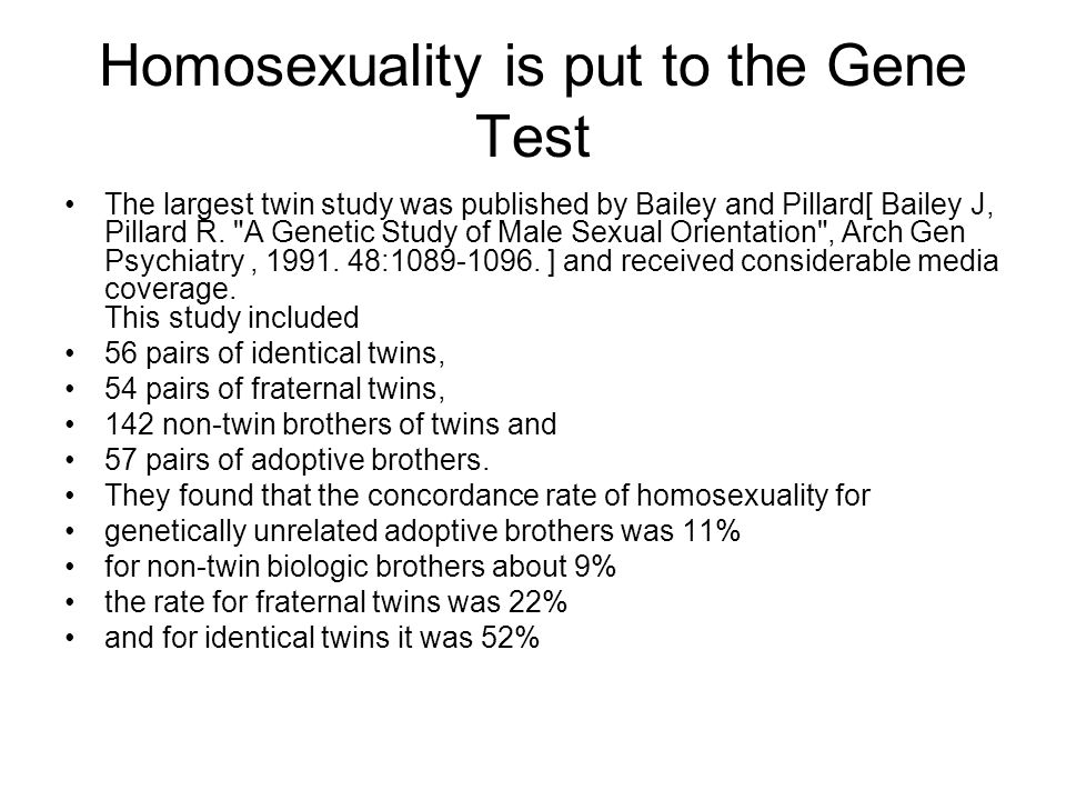 Homosexuality is put to the Gene Test