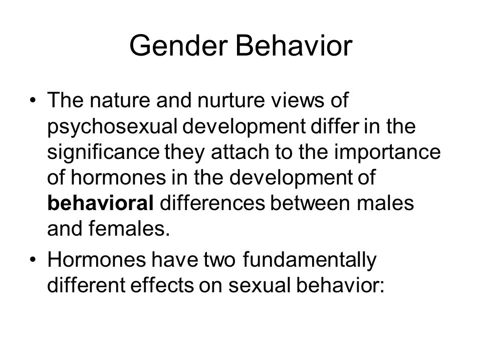 Gender Behavior