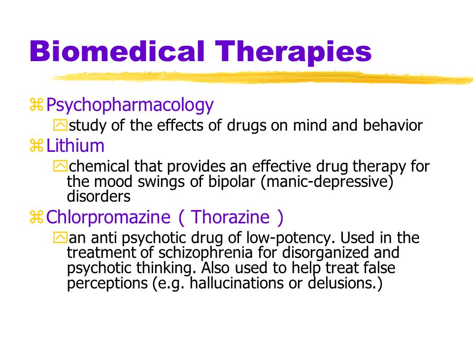 Biomedical Therapies Psychopharmacology Lithium