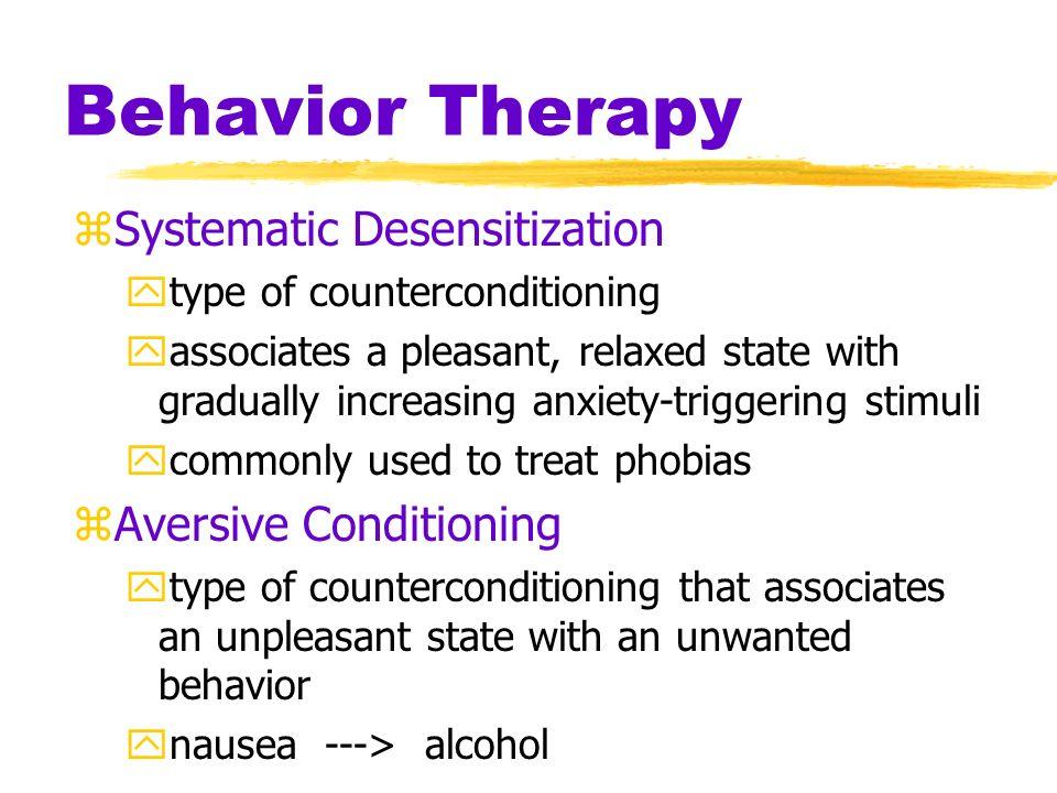 Behavior Therapy Systematic Desensitization Aversive Conditioning