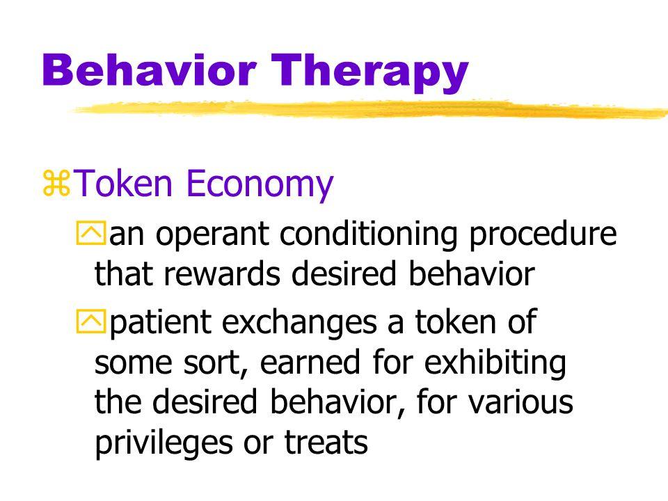 Behavior Therapy Token Economy