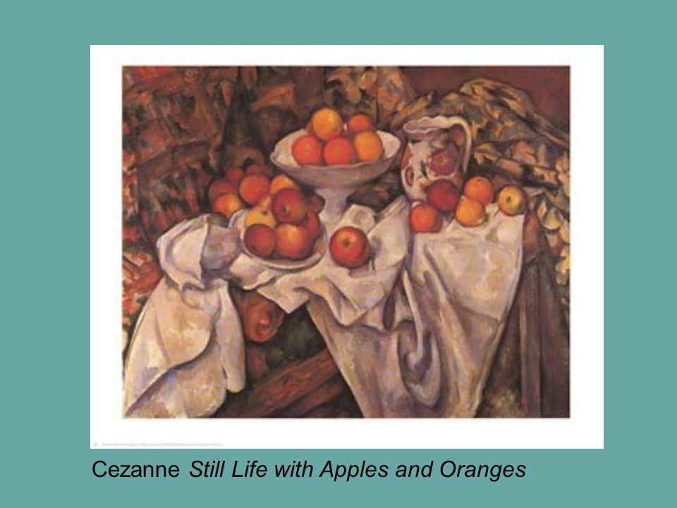 Cezanne Still Life with Apples and Oranges