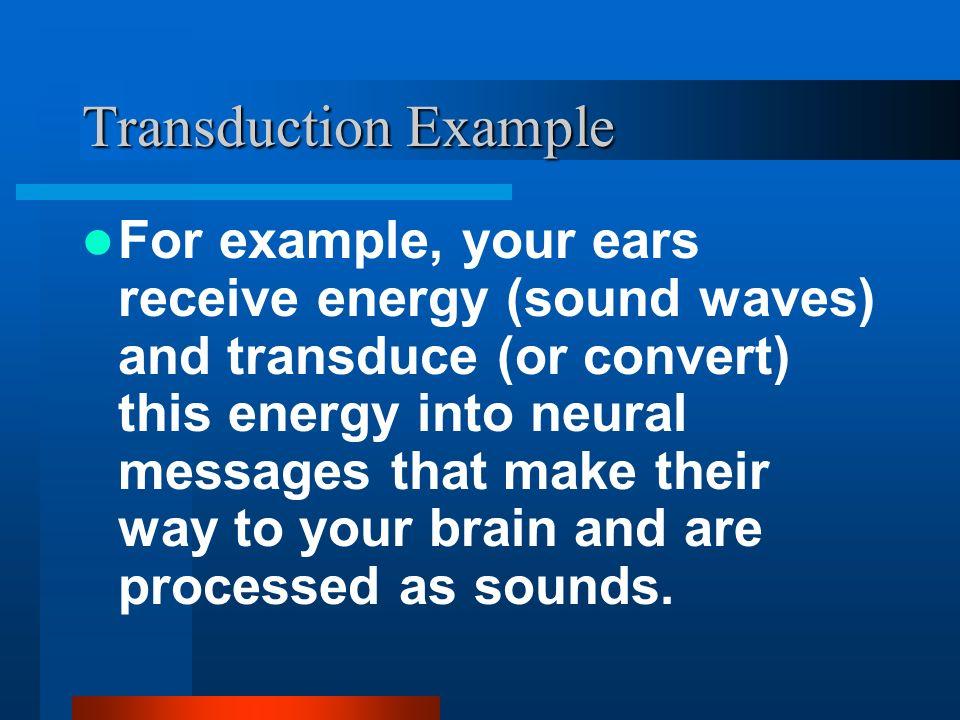 Transduction Example