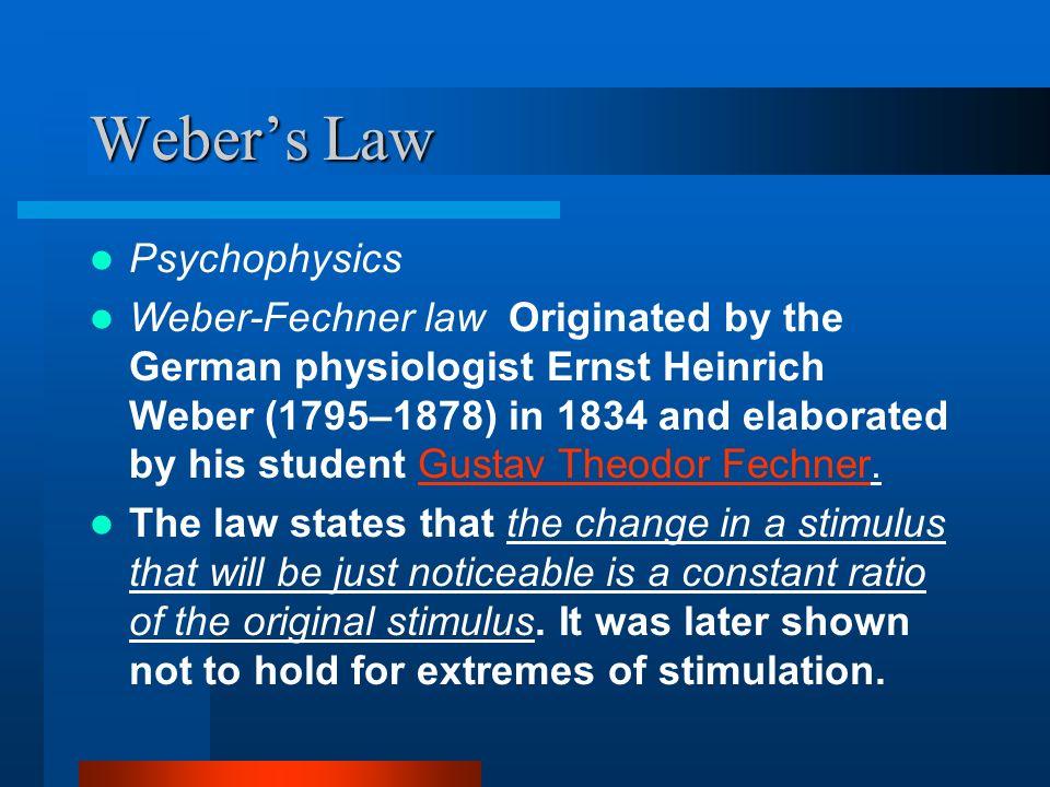Weber's Law Psychophysics